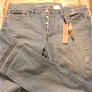 New Calvin Klein  button front boyfriend jeans 29